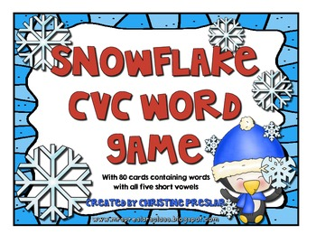 Snowflake CVC Word Game
