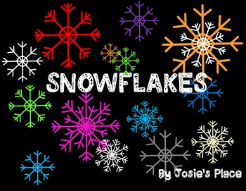 Snowflake Clip Art Personal/Commercial Use