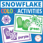 Snowflake Color Matching Activity for Preschool and Pre-K