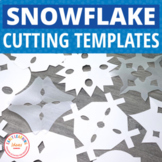 Snowflake Cutting Patterns for Winter Fine Motor Practice