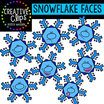 Snowflake Faces {Creative Clips Digital Clipart}