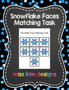 Snowflake Faces Matching Folder Game for students with Autism