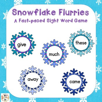 Snowflake Flurries Sight Word Games