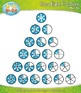 Snowflake Fractions Clipart — Over 20 Graphics!