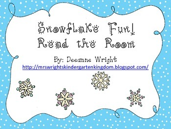 Snowflake Fun Read the Room Sight words