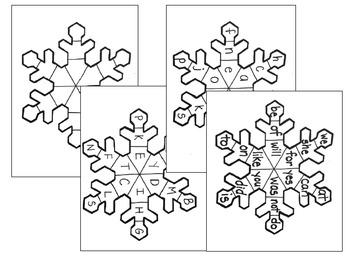 Snowflake Literacy Activity