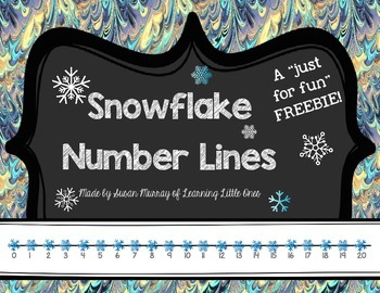 """Snowflake Number Lines (A """"Just For Fun"""" FREEBIE)"""
