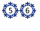 Snowflake Numbered Counting Cards 1-20