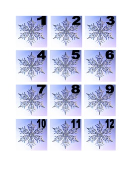 Snowflake Numbers for Calendar or Math Activity