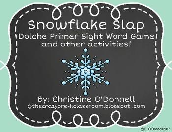 Snowflake Slap Freebie: Dolche Primer Sight Word Games