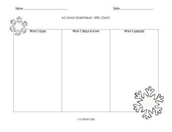 Snowflakes KWL Chart