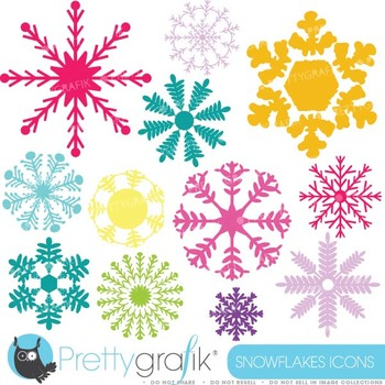 Snowflakes clipart commercial use, vector graphics, digita