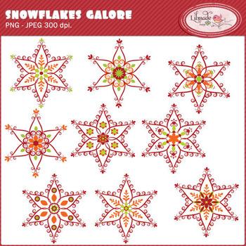 Snowflakes galore clip art