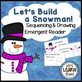 Winter Activities, Snowman Emergent Reader Drawing Sequenc