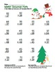 Snowman 2 Digit Subtraction & Addition Regrouping Common C