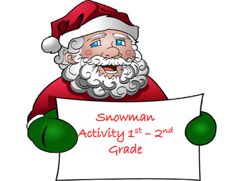 Snowman Activity for 1st-2nd Grade