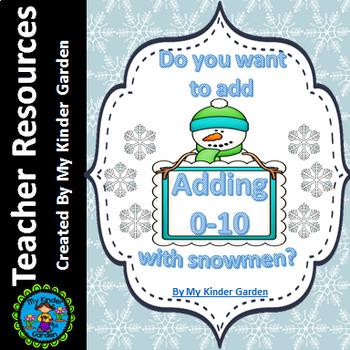 Snowman Addition Adding 0-10