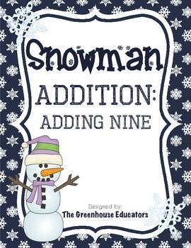 Snowman Addition: Adding On (Fact Family Nine)