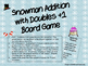 Snowman Addition with Doubles +1 Board Game
