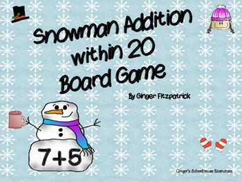 Snowman Addition within 20 Board Game