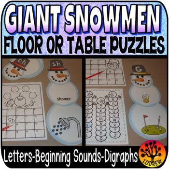 Snowman Centers Winter Centers Activities Beginning Sounds