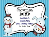 Snowman BUMP -- Addition & Subtraction Fact Fluency Games