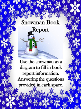 Snowman Christmas Book Report
