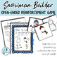Snowman Builder: Open Ended Reinforcement Game: Great for