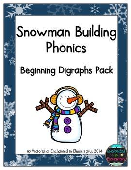 Snowman Building Phonics: Beginning Digraphs Pack