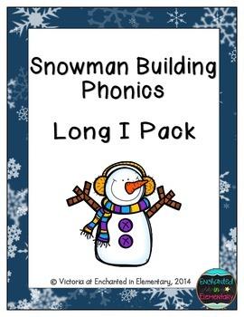 Snowman Building Phonics: Long I Pack
