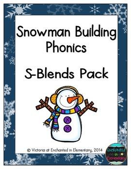Snowman Building Phonics: S-Blends Pack