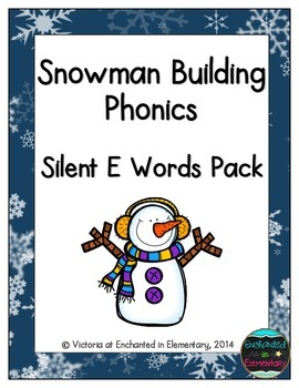 Snowman Building Phonics: Silent E Words Pack