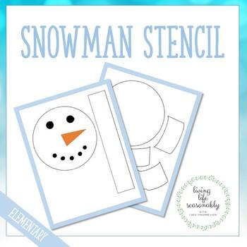 Snowman Bulletin Board Stencil Printable
