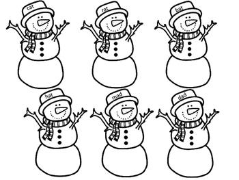 Snowman CVC Cut and Paste