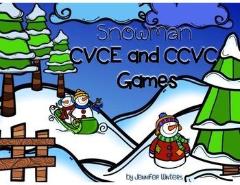Snowman CVCE and CCVC Games