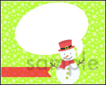 Snowman Christmas Holiday Package