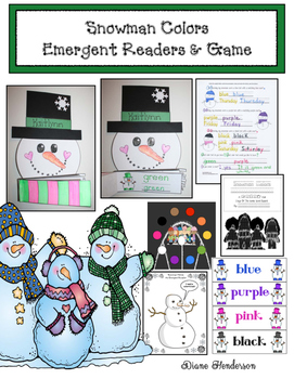 Snowman Colors: Emergent Readers & Game