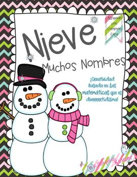 Snowman Common Core Craftivity {Spanish Version}