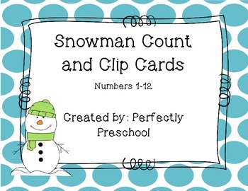 Snowman Count and Clip Cards