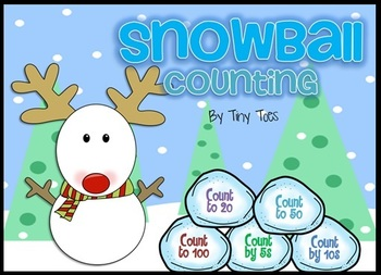 Snowman Counting Game - count to 20, 50, 100, by 5s, by 10