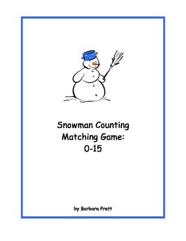 Snowman Counting Matching Game: 0-15 eBook
