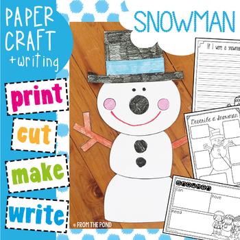 Winter Craftivity: Snowman Paper Craft