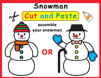 Snowman Cut and Paste Craft