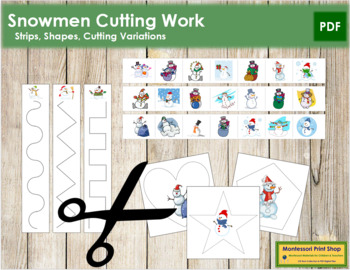 Snowman Cutting Strips