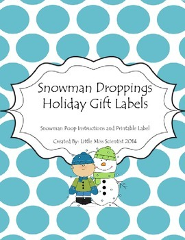 """Snowman Droppings"" Gift Tag"