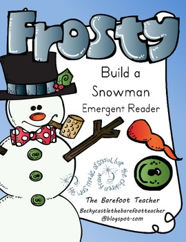 Snowman Emergent Reader *Practices sightwords: what, can,