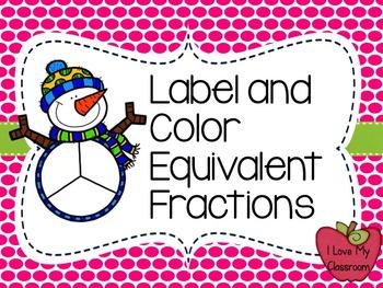 FREEBIE: Snowman Equivalent Fractions {Color It}