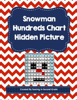 Snowman Hundreds Chart Hidden Picture Math Numbers Place Value