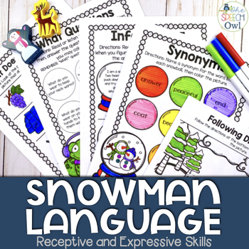 Snowman Language Print and Go