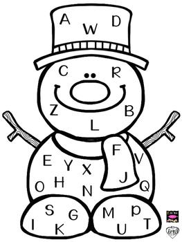 Snowman Letter ID